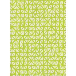 C5132-001 Lil' Monsters - Shattered - Citron Unbleached Cotton Fabric