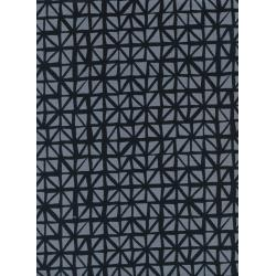 C5132-002 Lil' Monsters - Shattered - Charcoal Unbleached Cotton Fabric