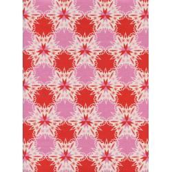 C5140-002 Noel - Kaleidescope - Red Unbleached Cotton Fabric