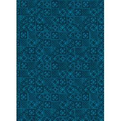 C6016-003 Poolside - Architectural Blocks - Blue Fabric
