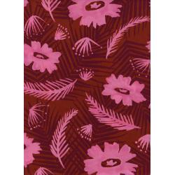 C6018-015 Poolside - Palm Springs Bouquet - Pink Rayon Fabric
