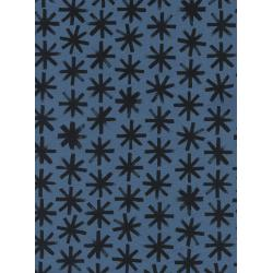 C5105-001 S.S. Bluebird - Plink Plink - Black Unbleached Cotton Fabric