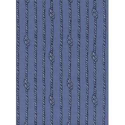 C5106-001 S.S. Bluebird - Tied In Knots - Blue Unbleached Cotton Fabric