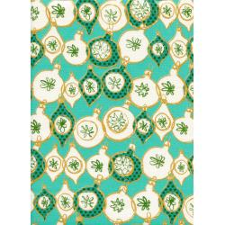 C5014-001 Tinsel - Ornament - Teal Metallic Fabric