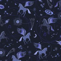 EE100-MB2 Mystical - Astro Pegasus - Midnight Blue Fabric