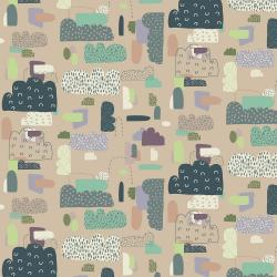 EE102-KH4 Mystical - Cloud Nine - Khaki Fabric