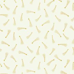 EE103-IV4M Mystical - Shooting Stars - Ivory Metallic Fabric
