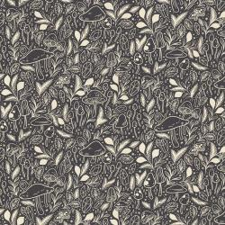 EM101-DM1U Earth Magic - Mystical Mushroom - Deep Mulberry Unbleached Fabric