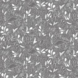 EM101-MD5 Earth Magic - Mystical Mushroom - Midnight Dream Fabric