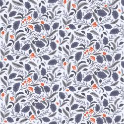 EM102-PE2 Earth Magic - Mushroom Forest - Periwinkle Fabric
