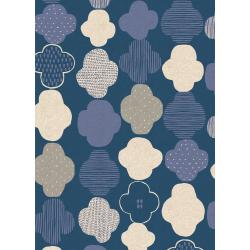 HO103-DA4C Mori No Tomodachi - Kumo - Dark Blue Canvas Fabric