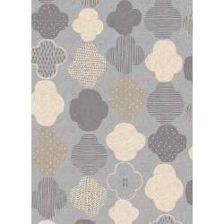 HO103-GY5C Mori No Tomodachi - Kumo - Gray Canvas Fabric