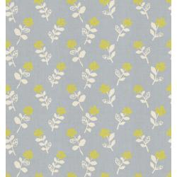 HO105-GY2U Mori No Tomodachi - Odoru Hana - Gray Unbleached Cotton Fabric