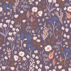 HJ201-DL3 Dear Isla - Meadow - Dark Liliac Fabric