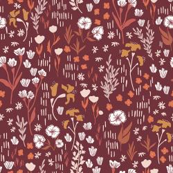 HJ201-DR2 Dear Isla - Meadow - Deep Rose Fabric