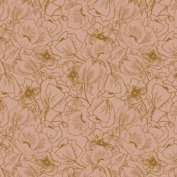 HJ302-MA1 Wallflower - Anemones - Mauve Fabric