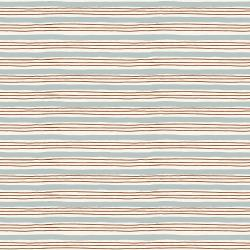 HJ304-SB1 Wallflower - Painterly Stripes - Sky Blue Fabric