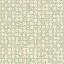 JE103-TE5U Homestead - Germination - Teal Unbleached Fabric