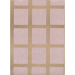 J9012-002 Imagined Landscapes - The Avenues - Rose Gold Unbleached Cotton Metallic Fabric