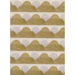 J9013-002 Imagined Landscapes - Headlands - Golden Hour Unbleached Cotton Fabric