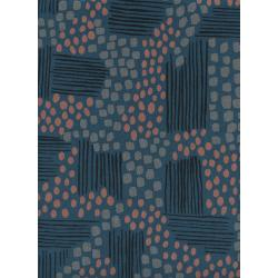 J9015-012 Imagined Landscapes - Aeriel View - Midnight Canvas Fabric