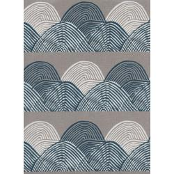 J9016-012 Imagined Landscapes - Headlands - Midnight Canvas White Pigment Fabric