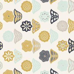JT101-NA4 Modern Meadow - Basket Blooms - Navy Fabric