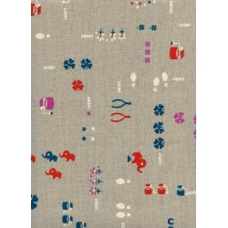 K3025-022 Lucky Strikes - Lucky - Neutral Canvas Fabric