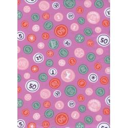 K3028-002 Penny Arcade - Pocket Change - Petunia Fabric