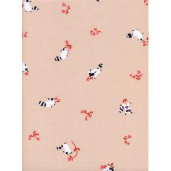 K3041-001 Yours Truly - Tanuki - Peach Fabric