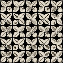 LV300-BK4C Along the Fields - Strawberry - Black Canvas Fabric