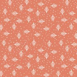 LV302-PF1 Along the Fields - Hyacinth - Pressed Flower Fabric