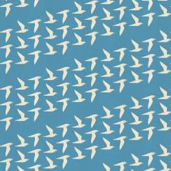 LV103-SK1U By the Seaside - Fly Along - Sky Unbleached Fabric