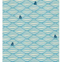 LV104-SK2U By the Seaside - Ahoy - Sky Unbleached Fabric