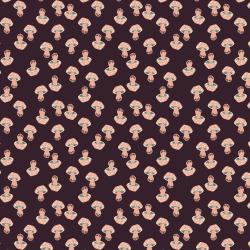 LV202-EG1U In The Woods - Mushroom - Eggplant Unbleached Fabric