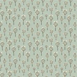 LV203-SK2U In The Woods - Beech Tree - Sky Unbleached Fabric