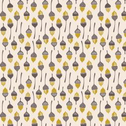 LV204-YE1 In The Woods - Acorn - Yellow Fabric