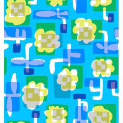 MS104-BL2 Safari - Flower Box - Blue Fabric