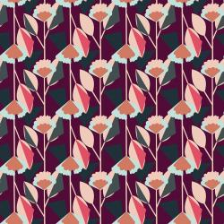 MC101-PL3 Emilia - Florence - Plum Fabric