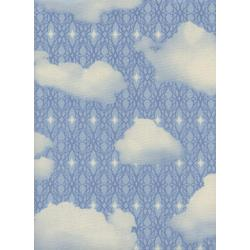 M0064-002 Freshly Picked - Sky - Blue Unbleached Cotton Fabric