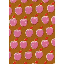 M0021-003 Picnic - Apples - Pink Fabric