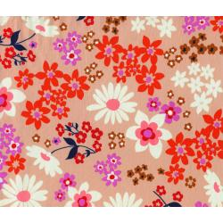 M0016-011 Playful - Vintage Floral - Pink Lawn Fabric