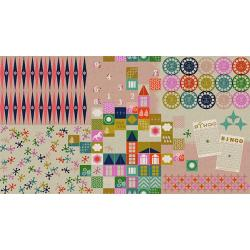M0017-012 Playful - Playroom - Pink Canvas Fabric