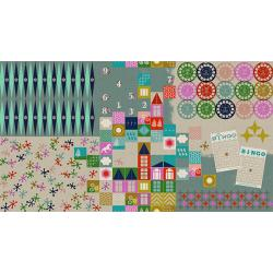 M0017-022 Playful - Playroom - Aqua Canvas Fabric