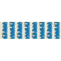 NM201-BL1U Waku Waku Christmas - Mr. Polar Bear - Blue Unbleached Fabric
