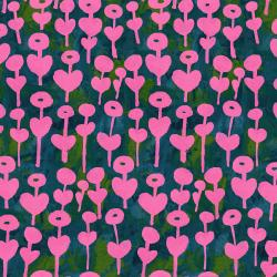 OE101-PI2 Once Upon a Time - Love Flower - Pink Fabric