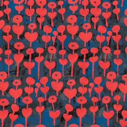 OE101-RE3 Once Upon a Time - Love Flower - Red Fabric
