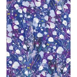 OE200-VI1 Snow Flowers - Kasumisou - Violet Fabric