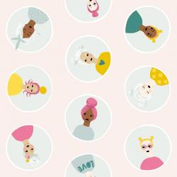 PK100-BL1 Girl's Club - Confetti Friends - Blush Fabric