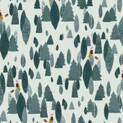 PK103-SP2P Girl's Club - Another Adventure - Spruce White Pigment Fabric